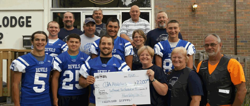 River Valley Riders donate $2200 to OFA Athletics
