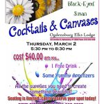 Cocktails and Canvases, March 2